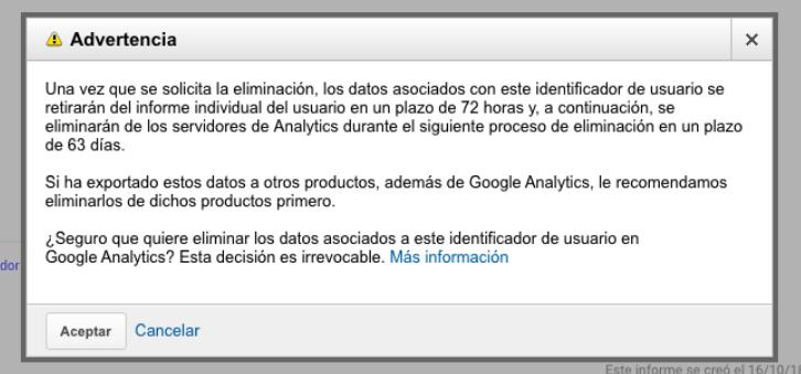 user deletion second step